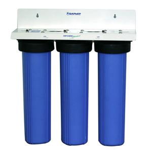 Магистральный водоочиститель Барьер Профи BB СтандартН500Р00Водоочиститель проточный предназначен для доочистки питьевой водопроводной воды от механических загрязнений, активного хлора, тяжелых металлов и других вредных веществ.Магистральный фильтр является высокопроизводительной системой очистки и может быть использован для получения чистой воды в организациях общественного питания и других учреждениях, использующих для своих нужд чистую воду. 624х690х194