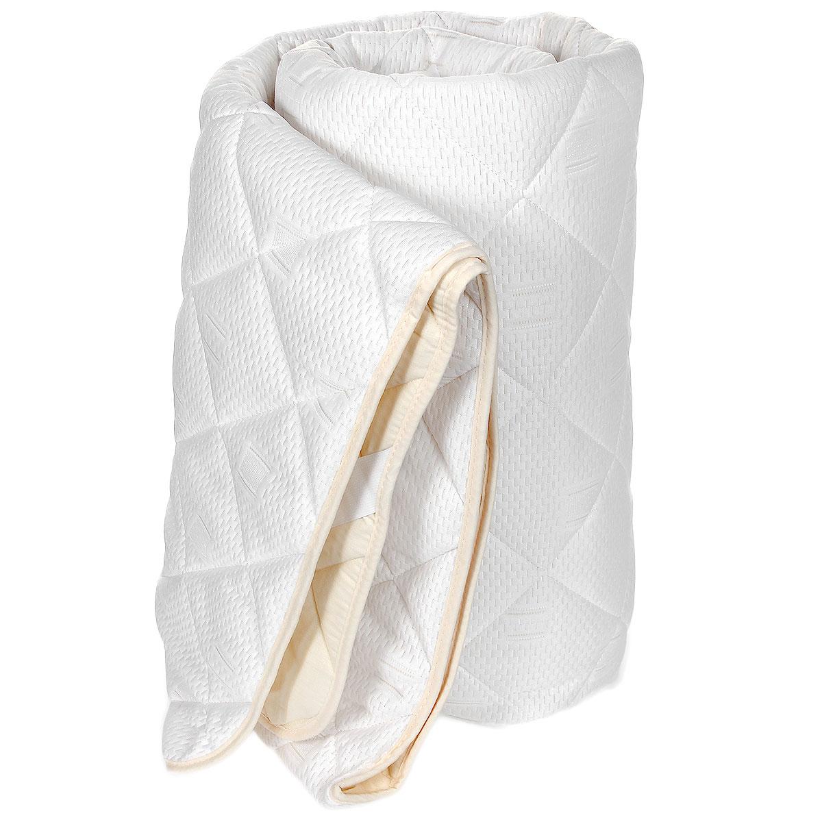 """Наматрасник OL-Tex """"Бабмук"""" с наполнителем из полиэфирного высокосиликонизированного микроволокна на основе бамбука сделает ваш сон еще комфортнее. Чехол выполнен из поликоттона сливочного цвета и оформлен декоративной стежкой в виде крупных ромбов, что обеспечивает равномерное распределение тепла. Изделие изготовлено из экологичных природных и нетоксичных материалов, обладает антисептическим эффектом, гигиенично и не вызывает аллергии. Наматрасник оснащен резинками по углам, поэтому прочно удерживается на матрасе и избавляет от необходимости часто поправлять. Это защитит матрас от грязи и пыли и придаст дополнительный комфорт вашему спальному месту. Мягкий и легкий, он прекрасно подойдет для жестких кроватей и диванов, делая ваш сон спокойным и приятным. Легко стирается.    Бамбуковое волокно - это экологически чистая основа для создания наполнителя нового поколения, имеет естественные антибактериальные и дезодорирующие функции. Обладает прекрасной воздухопроницаемостью и впитывающими свойствами за счет пористой структуры бамбукового волокна. Не вызывает раздражений на коже человека, идеально подходит людям, страдающим аллергией и астмой. Обладает замечательной вентилирующей способностью и отличается высоким показателем чистоты. Природные свойства бамбука препятствуют проникновению бактерий и образованию запахов. Отлично переносит многократные циклы стирок и сушек.   Наматрасник упакован в прозрачный пластиковый чехол на змейке с ручкой, что является чрезвычайно удобным при переноске.    Рекомендации по уходу: - Стирка в теплой воде (температура до 30°С), - Нельзя отбеливать. При стирке не использовать средства, содержащие отбеливатели (хлор), - Сушить вертикально без отжима,  - Не гладить. Не применять обработку паром, - Нельзя выжимать и сушить в стиральной машине. Характеристики:  Материал чехла: трикотажное полотно (бамбук/полиэстер), поликоттон (50% хлопок/50% полиэстер). Наполнитель: волокно на основе бамбука, полиэстер. Цвет: сливочный. Плотность: 200 г/м3. """