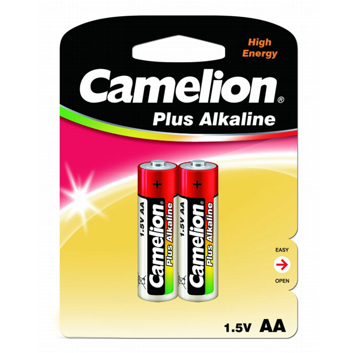 Батарейка Camelion LR6-BP2 Plus, 1,5В, 2 шт