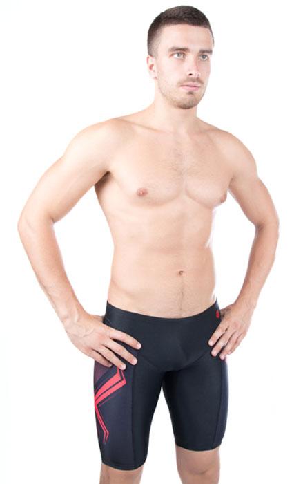 Фото Купальные шорты мужские MadWave Stalker Jammer PBT, цвет: черный, красный. M1433 03 3 Q3W. Размер XS (44). Покупайте с доставкой по России