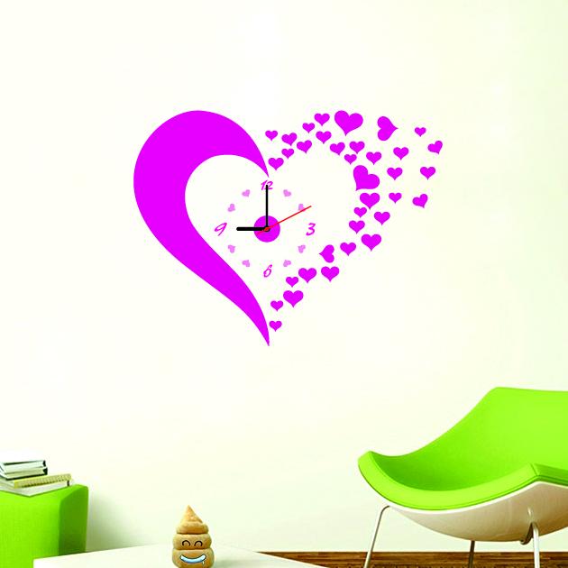 Настенные декоративные часы-стикеры Perfecto Hearts. GLM-T004GLM-T004Настенные декоративные часы-стикеры Hearts в виде розового сердца добавят в интерьер вашего дома оригинальности. Часы представляют собой стикер, выполненный из винила - тонкого эластичного материала, который хорошо прилегает к любым гладким и чистым поверхностям, легко моется и долго держится, после удаления не оставляет следов. Циферблат выполнен из плотного картона и имеет три стрелки - часовую, минутную и секундную, клеится к поверхности также при помощи стикера.Такие часы станут интересным дизайнерским решением не только спальни, гостиной или детской, но также и офиса. Характеристики: Материал: винил, пластик, картон. Цвет: розовый. Диаметр циферблата: 9,5 см. Размер упаковки: 18,5 см х 32 см х 4 см. Артикул: GLM-T004. Рекомендуется докупить одну батарейку типа АА, в комплект не входит.