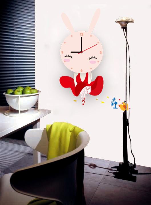 Настенные декоративные часы-стикеры Perfecto Зайка. GLM-T009GLM-T009Настенные декоративные часы-стикеры Зайка добавят в интерьер вашего дома оригинальности. Часы представляют собой стикер, выполненный из винила - тонкого эластичного материала, который хорошо прилегает к любым гладким и чистым поверхностям, легко моется и долго держится, после удаления не оставляет следов. Циферблат выполнен из плотного картона и имеет три стрелки - часовую, минутную и секундную, клеится к поверхности также при помощи стикера.Такие часы станут интересным дизайнерским решением не только спальни, гостиной или детской, но также и офиса. Характеристики: Материал: винил, пластик, картон. Цвет: красный, розовый. Диаметр циферблата: 9,5 см. Размер упаковки: 18,5 см х 32 см х 4 см. Артикул: GLM-T009. Рекомендуется докупить одну батарейку типа АА, в комплект не входит.