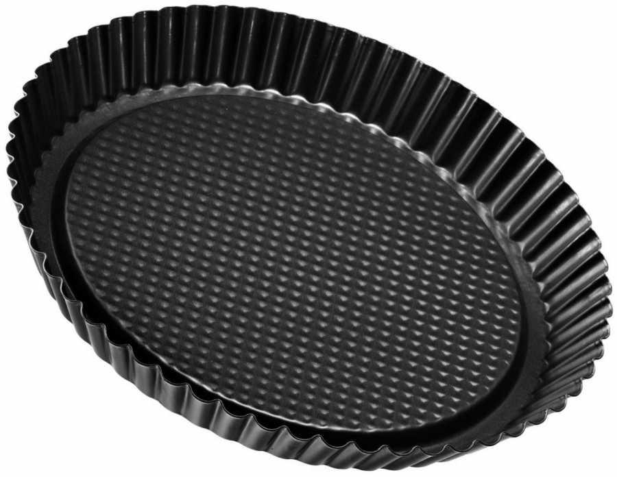 Форма для пирога Zenker Easy Clean, цвет: черный, диаметр 28 см3605Форма для пирога Zenker Easy Clean выполнена из углеродистой стали с антипригарным покрытием Easy Clean. Блюда не пригорают и не прилипают к стенкам. Стенки имеют рифленую поверхность, что делает блюдо еще аппетитнее. Такая форма значительно экономит время по сравнению с аналогичными формами для выпечки. С формой для выпечки Zenker Easy Clean готовить любимые блюда станет еще проще. Перед первым применением форму вымыть и смазать маслом. Максимальная температура нагрева 230°С. Не резать форму ножом. Характеристики: Материал: углеродистая сталь. Диаметр формы: 28 см. Высота стенки: 3,5 см. Цвет: черный. Артикул: 3605.