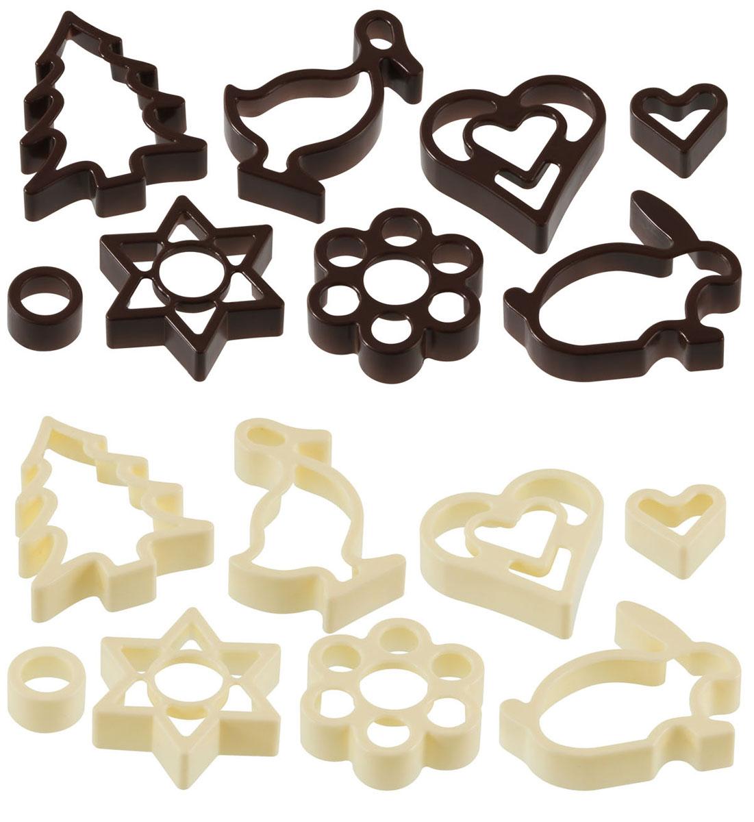 """Набор """"Zenker"""" состоит из восьми пластиковых форм для вырезания фигурного печенья. Формы выполнены в виде сердечка, цветочка, уточки, зайца, елочки и звездочки. Если вы любите побаловать своих домашних вкусным и ароматным печеньем по вашему оригинальному рецепту, то формы для вырезания печенья как раз то, что вам нужно!    Характеристики:Материал: пластик. Средний размер формы (ДхШхВ): 6 см х 6 см х 1,5 см. Комплектация: 8 шт. Размер упаковки: 5,5 см х 23 см х 1,5 см. Артикул: 42927.  УВАЖАЕМЫЕ КЛИЕНТЫ! Товар поставляется в цветовом ассортименте. Поставка осуществляется в зависимости от наличия на складе."""