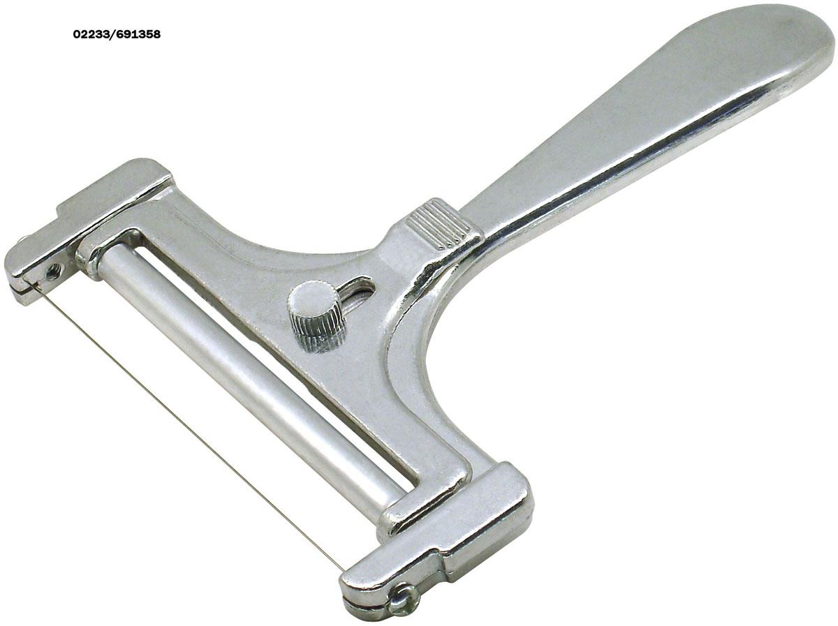Сырорезка Fackelmann струнная, длина 16 см45861Струнная сырорезка Fackelmann выполнена из алюминиевого сплава. Очень удобная ручка не позволит выскользнуть сырорезке из вашей руки. Регулируемая толщина нарезания сыра.Удобная сырорезка поможет вам быстро и без особого усилия нарезать тонкими или толстыми ломтиками сыр.