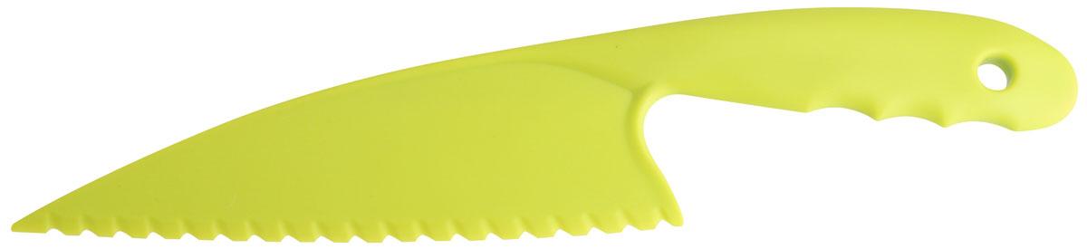 Нож для зелени Fackelmann, цвет: салатовый, 30 см48990Нож для зелени Fackelmann, выполненный из пластика салатового цвета, поможет вам с легкостью порезать зелень и овощи. Характеристики: Материал: пластик Длина лезвия: 18 см. Длина ножа: 30 см. Размер упаковки: 34 см х 8 см х 1 см.