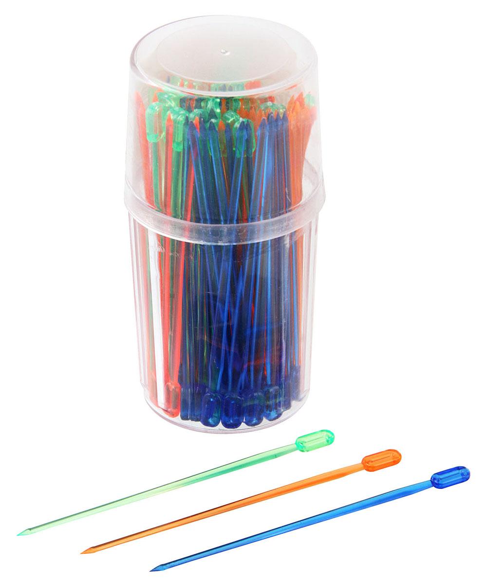 """Палочки для канапе Fackelmann """"Rio"""" выполнены из разноцветного пластика в классическом дизайне. Такие палочки помогут вам создать оригинальные канапе и бутерброды из самых простых продуктов. Представьте, насколько ярким и красивым станет ваш праздничный стол, и как будут приятно удивлены гости мастерством хозяйки. Характеристики:Материал: пластик. Длина палочки: 9 см. Комплектация: 100 шт. Размер упаковки: 4,5 см х 4,5 см х 9,5 см. Артикул: 50611. Компания """"Fackelmann"""" была основана в 1948 году и в настоящее время является крупнейшим мировым поставщиком товаров для дома. В ассортименте компании найдутся товары для самых разных покупателей. Продукция """"Fackelmann"""" выполнена из различных комбинаций металла - нержавеющей, хромированной, никелированной и луженой стали, светлого и темного дерева - бука и сосны, пластмассы, акрила, прозрачного, матового и цветного стекла. С продукцией """"Fackelmann"""" ваш дом станет красивее, уютнее и намного удобнее!"""