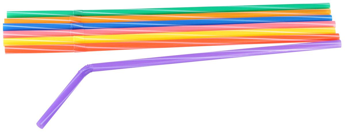 Трубочки для коктейлей Fackelmann Rio, гибкие, 24 см, 30 шт трубочки для коктейлей фарт с изгибом гофрированные 260 х 6 мм 80 шт
