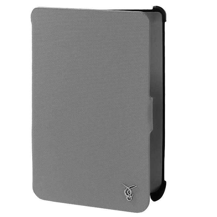 Vivacase Oxford текстильный чехол-обложка для PocketBook 624/623/622 (Touch), Grey (VPB-PTOX01-gr)VPB-PTOX01-grViva Oxford текстильный чехол-обложка для 624/623/622 (Touch) изготовлен из качественной ткани Oxford с приятной текстурой и высокой устойчивостью к истиранию. Этот классический чехол надежно защитит гаджет от возможных повреждений.Внутренняя сторона имеет мягкую подкладку, которая хорошо собирает пыль, легко очищается и не оставляет царапин на дисплее. Внутри книга плотно и надежно фиксируется с помощью лямок. При этом все разъемы и кнопки остаются открытыми.