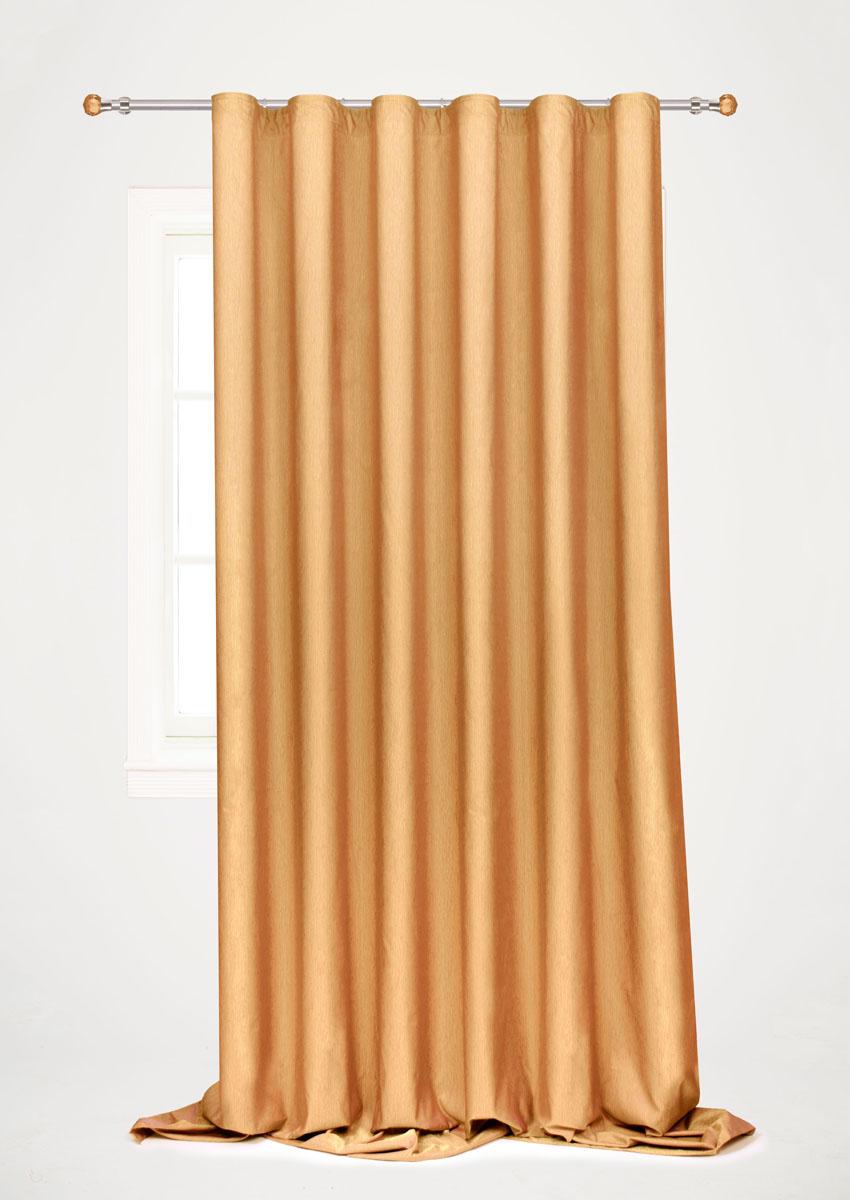 Штора готовая для гостиной Garden, на ленте, цвет: коричневый, 200 х 260 см. С 536097 V76С 536097 V76Готовая портьерная штора для гостиной Garden выполнена из 100% полиэстера. Богатая текстура материала и изысканная цветовая гамма привлекут к себе внимание и органично впишутся в интерьер помещения. Изделие оснащено шторной лентой для красивой сборки. Штора Garden великолепно украсит любое окно.