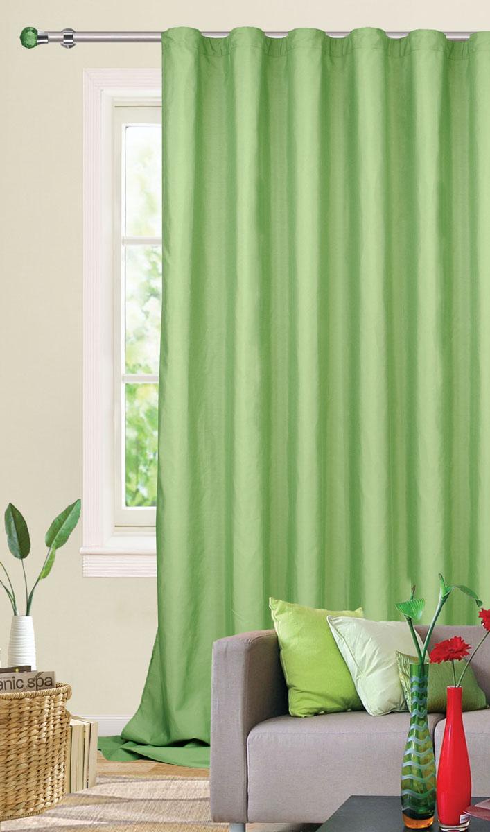 Штора готовая для гостиной Garden, на ленте, цвет: зеленый, 200*260 см. С W1687 V73171W007 т.оливкаГотовая штора-портьера для гостиной Garden выполнена из плотной ткани репс (полиэстер). Богатая текстура материала и спокойная цветовая гамма украсят любое окно и органично впишутся в интерьер помещения. Изделие оснащено шторной лентой для красивой сборки.