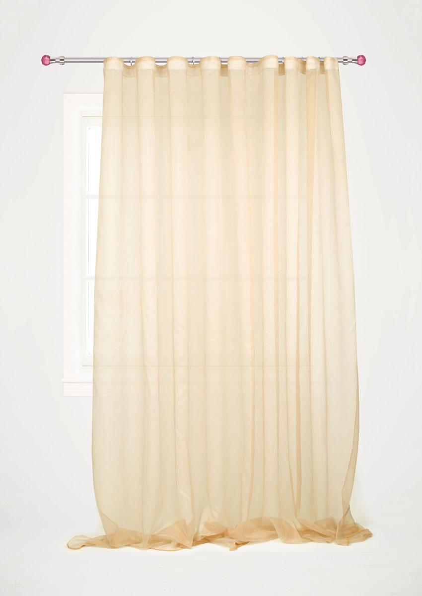 Штора готовая для гостиной Garden, на ленте, цвет: кремовый, размер 300*260 см. С W1741 V3С W1741 V3Изящная тюлевая штора Garden выполнена из структурной органзы (полиэстера). Полупрозрачная ткань, приятный цвет привлекут к себе внимание и органично впишутся в интерьер помещения. Такая штора идеально подходит для солнечных комнат. Мягко рассеивая прямые лучи, она хорошо пропускает дневной свет и защищает от посторонних глаз. Отличное решение для многослойного оформления окон. Эта штора будет долгое время радовать вас и вашу семью!Штора крепится на карниз при помощи ленты, которая поможет красиво и равномерно задрапировать верх.