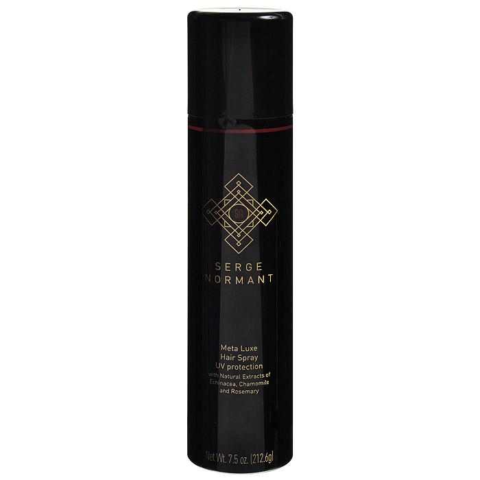 Serge Normant Лак для волос Meta Luxe Hair Spray, 212,6 мл1396418167Лак для волос Serge Normant Meta Luxe Hair Spray обеспечивает длительную невидимую фиксацию и сохраняет объем без утяжеления. Витамины питают и укрепляют волосы. Специальная формула защищает от УФ-лучей, сохраняя стойкость цвета. Экстракт коры кедра предотвращает склеивание волос, появление жесткости. Характеристики:Объем: 212,6 мл. Производитель: США. Артикул: 1396418167. Товар сертифицирован: