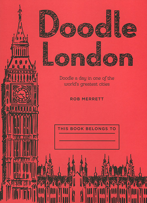 Doodle London: Doodle a Day in one of the world's greatest cities 32 pcs in one postcard famous nightscape famous cities around the world christmas postcards greeting birthday cards 10 2x14 2cm