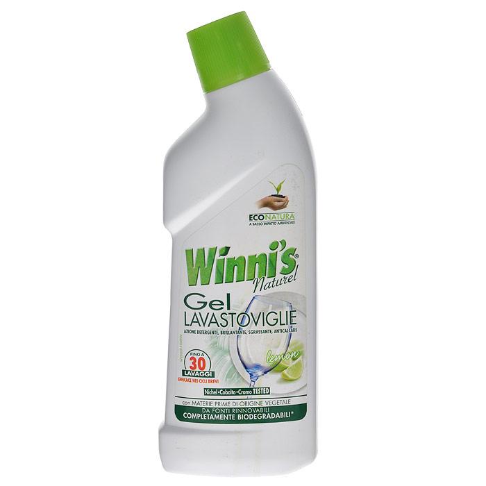 Гель для посудомоечных машин Winnis Naturel Lavastoviglie, 750 мл6270Жидкое моющее средство Winnis Naturel Lavastoviglie на растительном сырье предназначено для посудомоечных машин, действует быстро и эффективно за счет своей консистенции и формулы. Очищает даже самые застаревшие загрязнения, дезинфицирует и устраняет неприятные запахи. Эффективен даже при низких температурах воды. Хватает на30 моек. Характеристики:Объем: 750 мл. Производитель: Италия. Артикул: 6270. Товар сертифицирован.