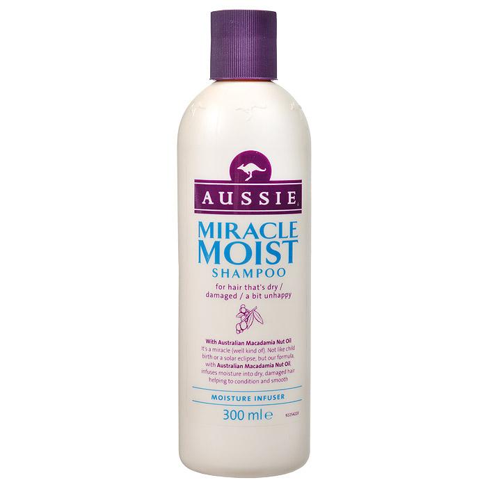 Aussie Шампунь Miracle Moist, для сухих и поврежденных волос, 300 мл шампунь aussie