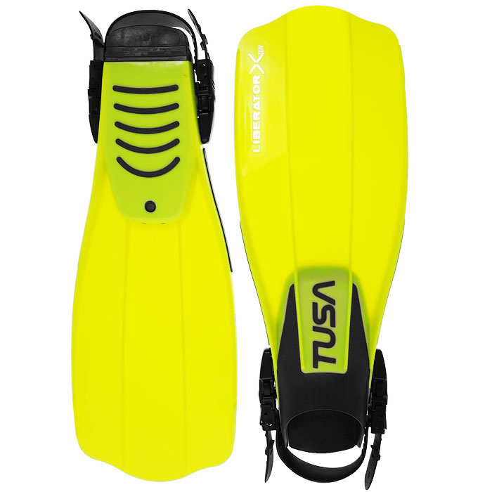 Ласты Tusa Liberator X-Ten с открытой пяткой, цвет:  желтый.  TS SF-5500 FY.  Размер 40/44 TUSA