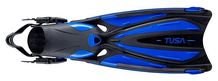 Ласты Tusa Solla с открытой пяткой, цвет: черный, синий. TS SF-22 CBL. Размер 38/40