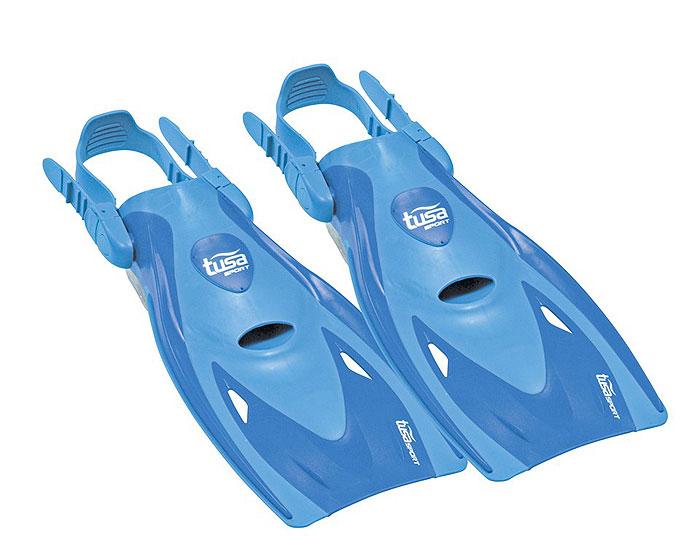 Ласты для плавания Tusa Sport UF-21, на голую ногу,  цвет: голубой. Размер L (40-46)