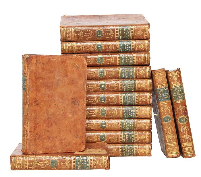 Универсальная библиотека для дам: Путешествия (комплект из 14 книг)53679Париж, 1785-1791 гг. Rue dAnjou, Serpente, Rue dAnjou-Dauphine.Владельческие цельнокожаные переплёты с золотым тиснением на корешке.Сохранность хорошая. Отсутствуют тома 2, 10, 14, 16, 18, 19. В серии Универсальная библиотека для дам (1785-1797) вышло около 156 томов. Универсальная библиотека для дам дам была задумана как собрание работ, позволяющее обеспечить общее образование, в легко доступной форме для женщин определенного класса; в серии можно было найти все, что может представлять полезные и нужные знания: путешествия, история, философия, художественная литература, наука и искусство. Двадцать томов коллекции были посвящены путешествиям по странам мира, за исключением Американского континента и Европы. Они включают описания древних и современных путешествий в разные концы мира, опубликованные как на французском, так и на иностранных языках. Приводятся краткие выдержки из впечатлений путешественников и наиболее популярные суждения о странах.Издание не подлежит вывозу за пределы Российской Федерации.