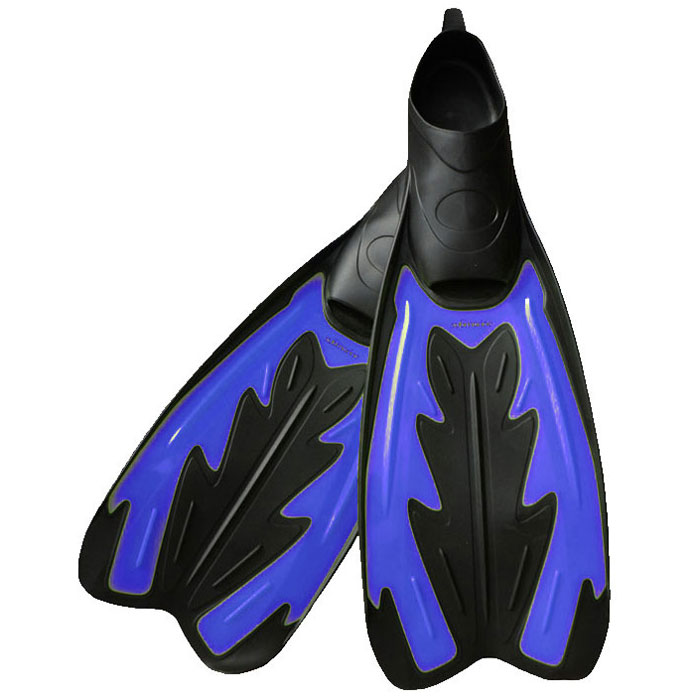 Ласты Submarine с закрытой пяткой, цвет: синий, черный. DRF-F367. Размер S (38/39)