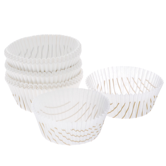 """Формочки для кексов """"Zenker, изготовленные из жиростойкой бумаги, используются для выпечки и упаковки кондитерских изделий. Формы не требуют предварительной смазки маслом. Предназначены для одноразового применения. Могут использоваться в микроволновых, газовых и электрических печах.   С такими формочками вы всегда сможете порадовать своих близких оригинальной выпечкой.   Характеристики:  Материал: жиростойкая бумага (подпергамент). Диаметр формочки: 7 см. Высота стенки формочки: 3 см. Комплектация: 100 шт. Размер упаковки: 17 см х 7 см х 4 см. Артикул: 43436.   Компания """"Fackelmann"""" была основана в 1948 году и в настоящее время является крупнейшим мировым поставщиком товаров для дома. В ассортименте компании найдутся товары для самых разных покупателей. Продукция """"Fackelmann"""" выполнена из различных комбинаций металла - нержавеющей, хромированной, никелированной и луженой стали, светлого и темного дерева - бука и сосны, пластмассы, акрила, прозрачного, матового и цветного стекла. С продукцией """"Fackelmann"""" ваш дом станет красивее, уютнее и намного удобнее!"""