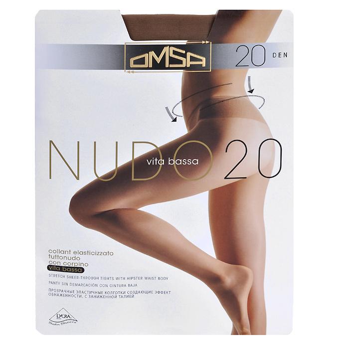 Колготки классические Omsa Nudo Vita Bassa 20. Daino (бежевые). Размер 3