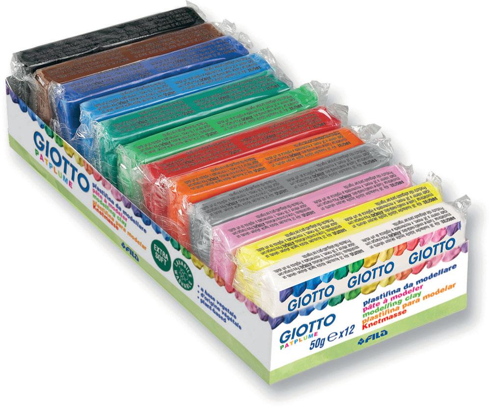 Пластилин Giotto Patflume, 12 цветов510300Пластилин Giotto Patflume - это уникальный пластилин, состоящий из двенадцати брусочков различных ярких цветов. Растительная основа и высокая пластичность позволяет делать даже мельчайшие детали, которые легко соединяются между собой. Пластилин не боится перемен температуры, не требует длительного разминания. Без запаха, не теряет своих свойств даже при длительном хранении. Не липнет к рукам. Легко отстирывается, не оставляя следов на любой поверхности. Не затвердевает на воздухе. Можно использовать различные техники лепки, рисования, моделирования. Характеристики: Вес одного брусочка: 50 г.Размер упаковки: 20 см х 8,5 см х 4 см.Рекомендуемый возраст: от 2 лет.