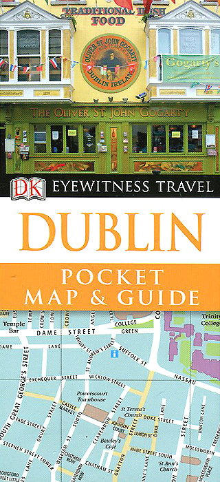 Dublin: Pocket Map and Guide map pattern quartz watch with analog indicate leather watchband for women