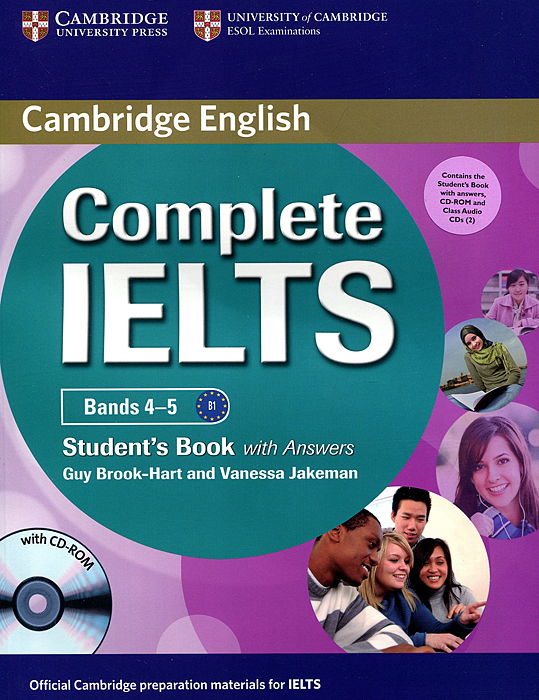 Complete IELTS: Bands 4-5: Student's Book with Answers (+ CD-ROM, 2 CD) cambridge grammar for pet book with answers 2 cd