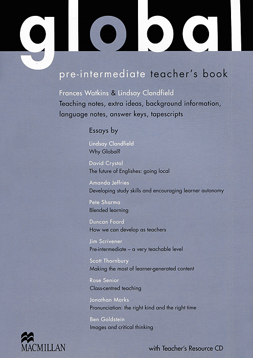 Global Pre-Intermediate: Teacher's Book (+ DVD-ROM) english for international tourism upper intermediate coursebook dvd rom