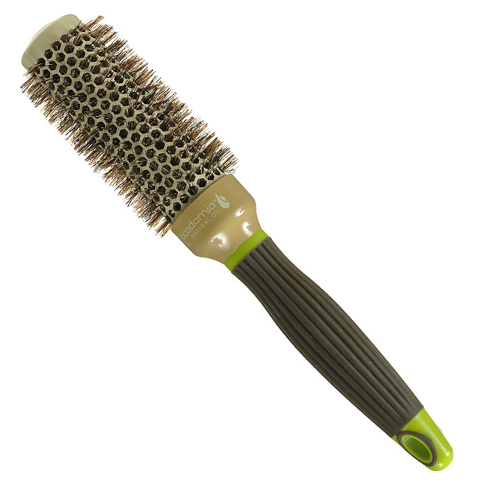 Macadamia Natural Oil Брашинг, 3,3 смММ31Брашинг Macadamia Natural Oil предназначен для укладки длинных и густых волос. Отлично подходит для создания объема у корней, придания формы, как при выпрямлении, так и при создании локонов. Основа с керамическим покрытием. 100% натуральная щетина. Характеристики:Материал: щетина, керамика, пластик. Диаметр брашинга: 3,3 см. Производитель: США. Товар сертифицирован.