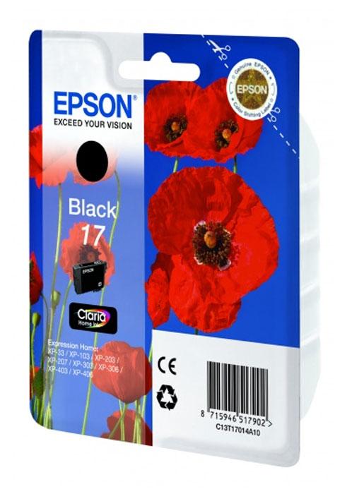 Epson 17 картридж для XP-33/XP-103/XP-406, черный картридж epson t3249 c13t32494010 orange для sc p400