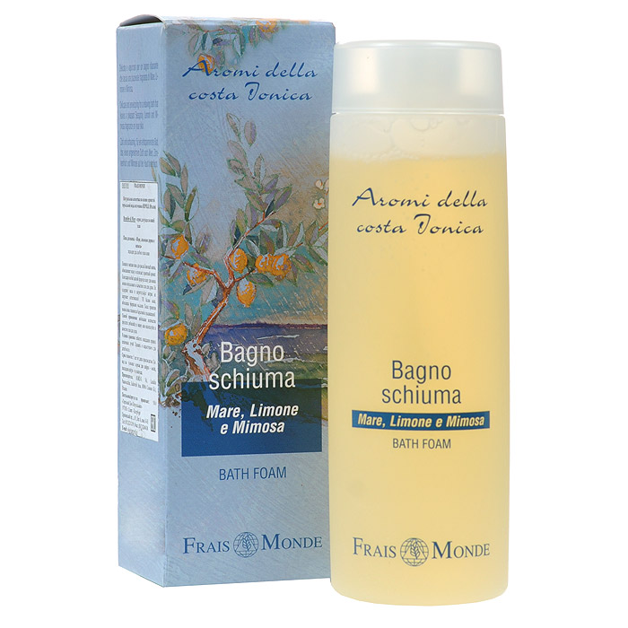Frais Monde Гель для душа - Пена для ванны, с ароматом моря, лимонного дерева и мимозы, 200 млFMFBD01Гель для душа - пена для ванны с ароматом моря, лимонного дерева и мимозы - мгновения релаксации для самых утонченных натур. Особая мягкая формула средства позволяет использовать его как в качестве пены для ванн, так и в качестве геля для душа. Благодаря отсутствию в средстве лауретсульфата натрия, оно не нарушает естественный PН баланс кожи. В составе содержатся: масло зародышей пшеницы, глубоко увлажняющее и смягчающее кожу; экстракт календулы, устраняющий воспалительные процессы; сернистая термальная вода Repole, насыщающая вашу кожу сиянием и красотой.Характеристики:Объем: 200 мл. Артикул: FMFBD01. Производитель: Италия. Товар сертифицирован.