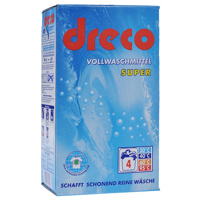 Стиральный порошок Dreco Super Vollwaschmittel, универсальный, 600 гВ1610Универсальный стиральный порошок Dreco Super Vollwaschmittel с активным кислородом подходит для всех видов стирки при температуре от 30°С до 95°С. Создает совершенно чистое белье, удаляет застарелые пятна даже при низких температурах. Не содержит фосфаты, не требует средства от извести. Экономичная упаковка позволит вам по достоинству оценить настоящее немецкое качество. Средства хватает на 4 стирки. Характеристики: Состав: 5-15%: анионные тензиды, цеолит, кислородный отбеливатель, менее 5%: нианионные тензиды, поликарбоксилаты; энзимы, оптический отбеливатель, отдушка. Вес: 600 г. Размер упаковки: 10 см х 17,5 см х 6 см.Артикул: В1610. Товар сертифицирован.