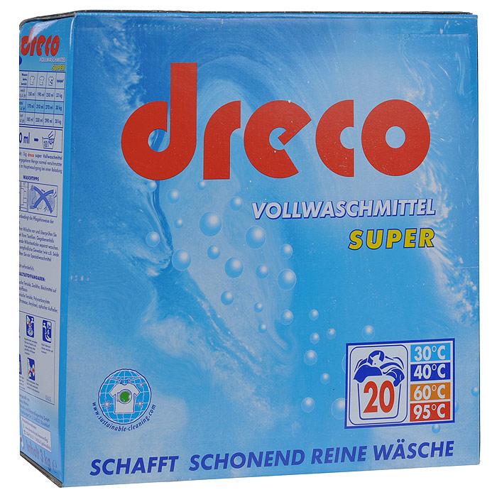 Стиральный порошок Dreco Super Vollwaschmittel, универсальный, 3 кгВ1616Универсальный стиральный порошок Dreco Super Vollwaschmittel с активным кислородом подходит для всех видов стирки при температуре от 30°С до 95°С. Создает совершенно чистое белье, удаляет застарелые пятна даже при низких температурах. Не содержит фосфаты, не требует средства от извести. Экономичная упаковка позволит вам по достоинству оценить настоящее немецкое качество. Средства хватает на 20 стирок. Характеристики: Состав: 5-15%: анионные тензиды, цеолит, кислородный отбеливатель, менее 5%: нианионные тензиды, поликарбоксилаты; энзимы, оптический отбеливатель, отдушка. Вес: 3 кг. Размер упаковки: 25 см х 26 см х 9 см. Артикул: В1616. Товар сертифицирован.
