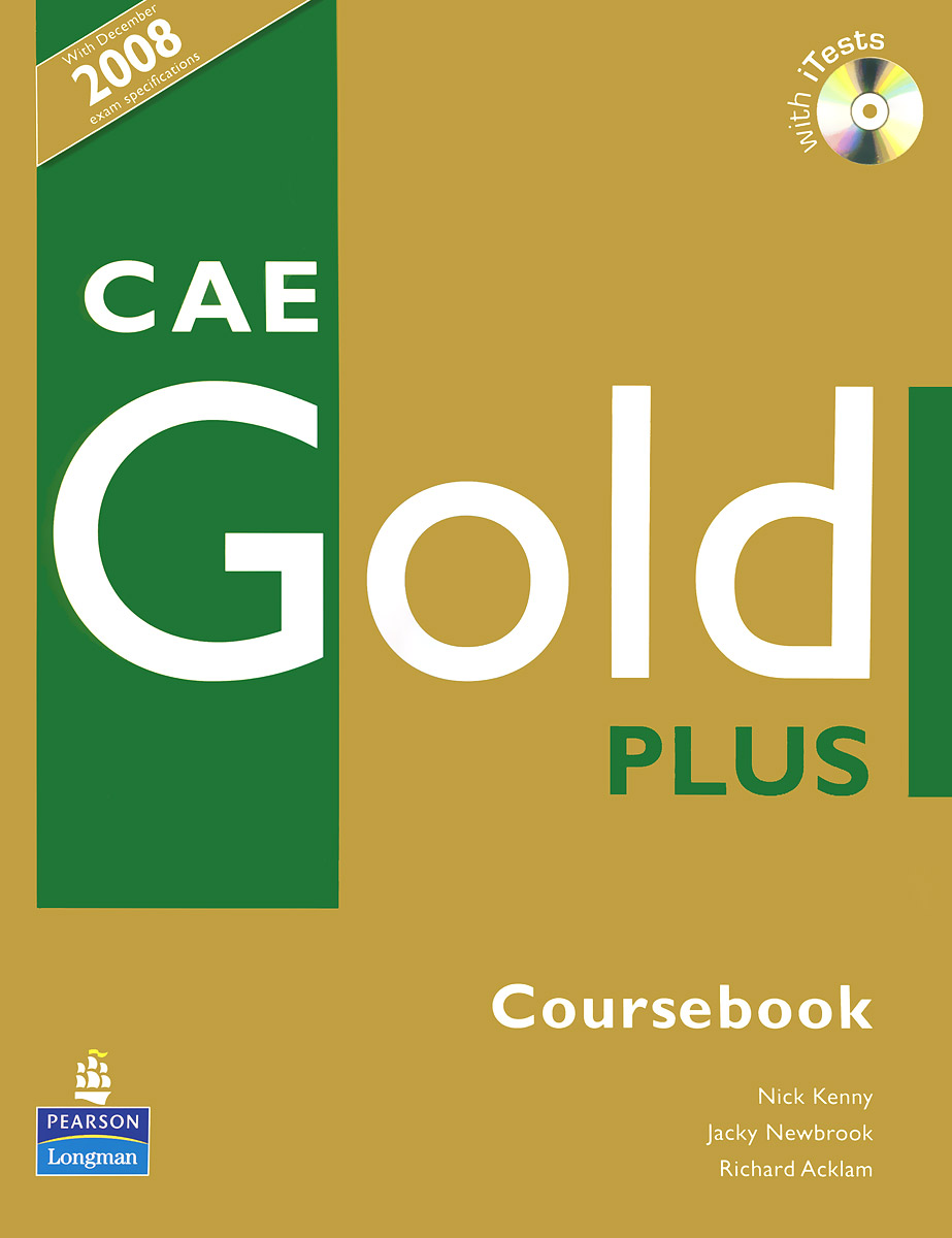 Cae Gold Plus: Coursebook (+ CD-ROM) first expert coursebook with myenglishlab 2 cd