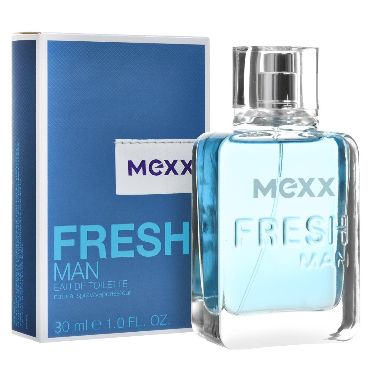 Mexx Туалетная вода Fresh Man, 30 мл0737052682198Мужской древесный водный парфюм Fresh Man создан голландским модным домом Mexx в 2011 году. Этот оригинальный, экзотический, слегка зеленый, чуть фруктовый, немного сливочный, выразительный, легкий, чистый, бодрящий древесный аромат с нотами амбры от Mexx напоминает свежий морской бриз, он придаст энергии, зарядит оптимизмом и подарит хорошее настроение на весь день. В букет композиции Fresh Man входит маракуя, зеленый кориандр, мускатный орех и амбра. Парфюм подходит для использования в качестве дневного аромата, лучше всего раскрывается в теплую весеннюю и летнюю погоду. Верхняя нота: Маракуя. Средняя нота: зеленый кориандр, мускатный орех. Шлейф: Амбра. Теплый, манящий мускатный орех и кориандр придают сердцу аромата мягкость и зрелость, а нижняя нота представлена древесно-амбровым сочетанием, несущим прозрачность, легкость и свет. Дневной и вечерний аромат.