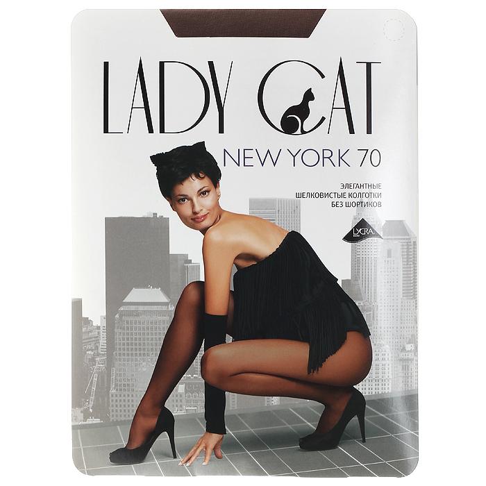 Колготки теплые Грация Lady Cat New York 70. Suntan (загар). Размер 2 колготки грация lady cat new york 40 цвет телесный размер 6