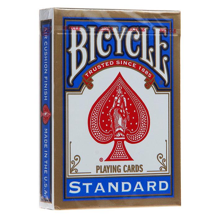 """Карты игральные Bicycle """"Standard"""", цвет: синий, 54 карты. 9101с"""