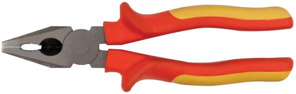 Плоскогубцы FIT Электро-2, 200 мм, до 1000 В50775Плоскогубцы FIT Электро-2 изготовлены из хром ванадиевой стали. Они предназначены для захвата, зажима и удержания мелких деталей.Имеют эргономичные ручки. Выдерживают напряжение до 1000 вольт. Характеристики: Материал:хром-ванадиевая сталь, резина. Общая длина:17 см. Размер плоскогубцев: 21 см х 6 см х 4 см. Размер упаковки: 28 см х 7 см х 4 см.