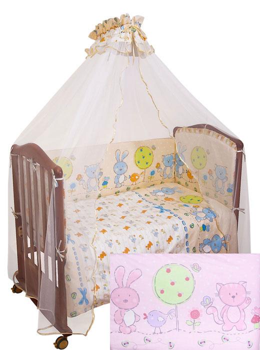 """Бампер в кроватку """"Акварель"""", цвет: розовый"""