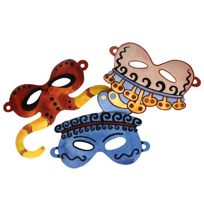 Карнавальные маски  для детей. Минотавр. Принц. Аристократ