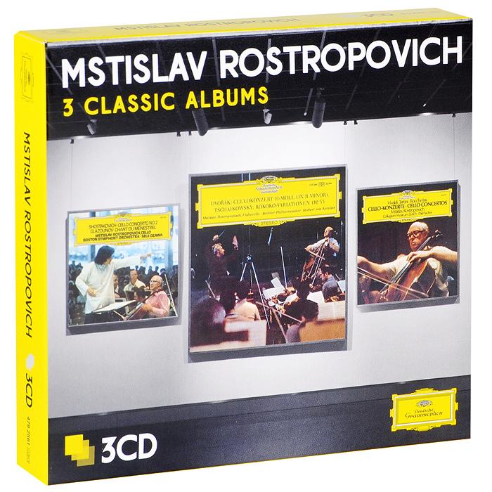 Мстислав Ростропович,Berliner Philharmoniker,Герберт Караян,Collegium Musicum Zurich,Пауль Захер Mstislav Rostropovich. Three Classic Albums (3 CD)
