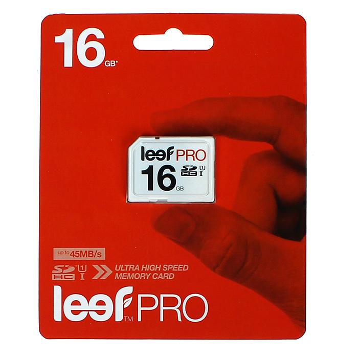 Leef SD PRO 16GB UHSLFSDPRO-01610RКомпактная и универсальная карта памяти Leef SD позволяет надежно хранить фотографии, музыку, фильмы и любую другую информацию. Карты памяти Leef SD имеют водонепроницаемое исполнение, поэтому вы не потеряете ваши важные данные. Карты памяти доступны в вариантах различного объема. Они идеально подходят для цифровых фотоаппаратов и видеокамер. Вся продукция Leef водонепроницаемая, ударопрочная, имеет пылезащищенный корпус и устойчива к работе в экстремальных температурных условиях.