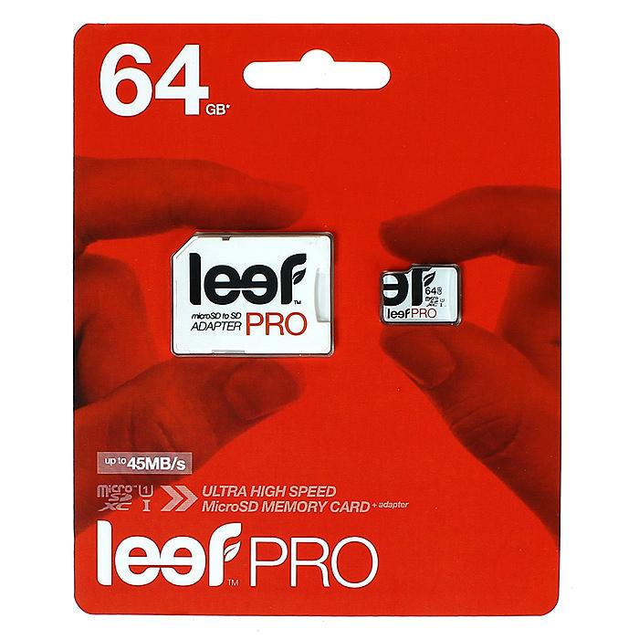 Leef microSD PRO 64GB UHSLFMSDPRO-06410RLeef microSD PRO - профессиональная карта памяти. Позволяет надежно хранить фотографии, музыку, фильмы и любую другую информацию. Она выпускается в вариантах различной емкостью и идеально подходит для планшетных ПК и смартфонов. Вся продукция Leef водонепроницаемая, ударопрочная, имеет пылезащищенный корпус и устойчива к работе в экстремальных температурных условиях.