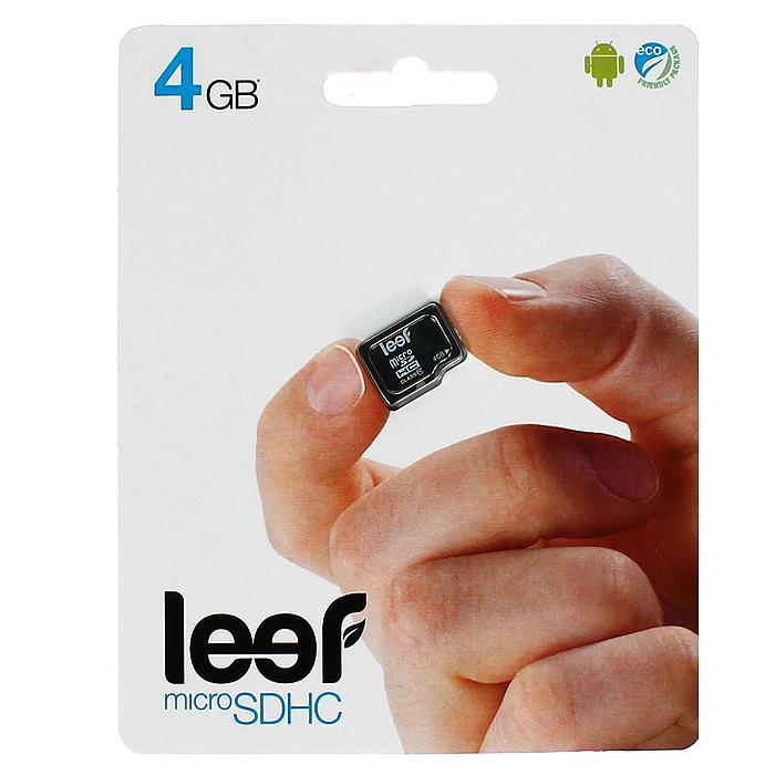 Leef microSD 4GB, Class 10 без адаптераLFMSD-00410RКомпактная и универсальная карта памяти Leef microSDHC позволяет надежно хранить фотографии, музыку, фильмы и любую другую информацию. Она выпускается в вариантах с различной емкостью и идеально подходит для планшетных ПК и смартфонов. Вся продукция Leef водонепроницаемая, ударопрочная, имеет пылезащищенный корпус и устойчива к работе в экстремальных температурных условиях.