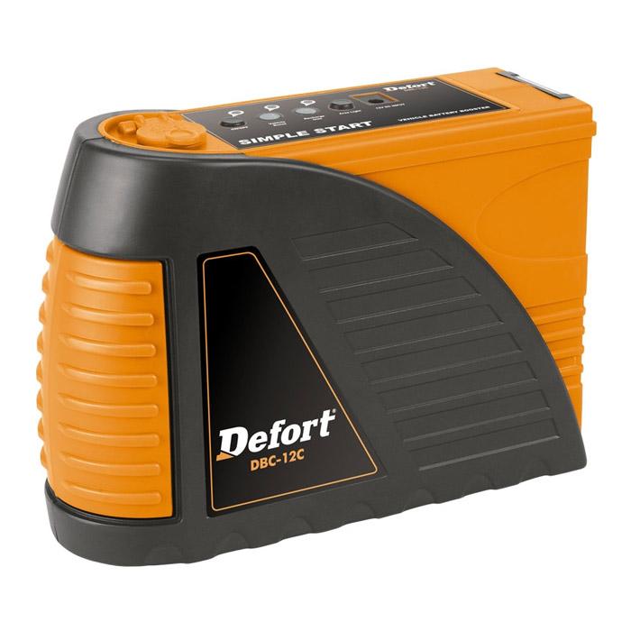 Автомобильное зарядное устройство Defort DBC-12C98294002Назначение зарядного устройства Defort - заряд автомобильных и мотоциклетных 14В аккумуляторных батарей любого типа. Устройство позволяет подзарядить аккумулятор за 10 минут. Имеет возможность подключения к прикуривателю. Заряжается от розетки. Оснащено ультра-ярким фонариком и разъемом 12В.Комплектация:- Зарядное устройство - 1шт.- Инструкция - 1шт. Характеристики:Напряжение зарядки: 14В. Максимально допустимая сила тока: 6-8 А. Вес: 2,5 кг. Размеры устройства (Д х Ш х В): 23 см x 9 см x 21,7 см. Размер упаковки: 23 см х 9 см х 22 см. Артикул: 98294002.