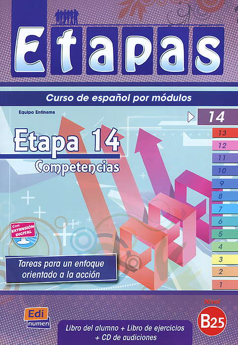 Etapas: Etapa 14 (B2.5): Competencias: Libro Del Alumno / Ejercicios (+ CD-ROM)
