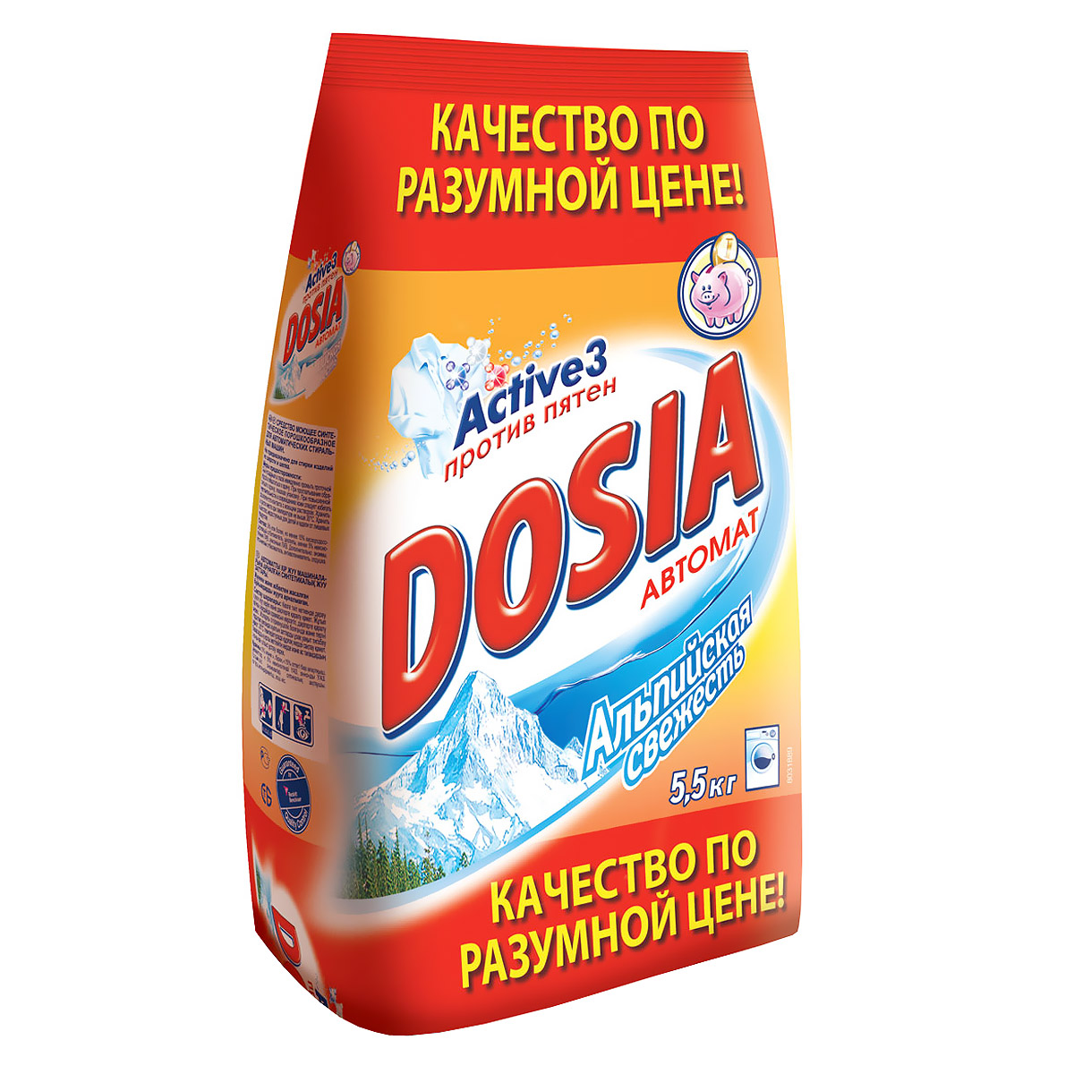 Стиральный порошок Dosia Альпийская свежесть, автомат, 5,5 кг рб dosia стир порошок авт белый снег 1 8кг 953037